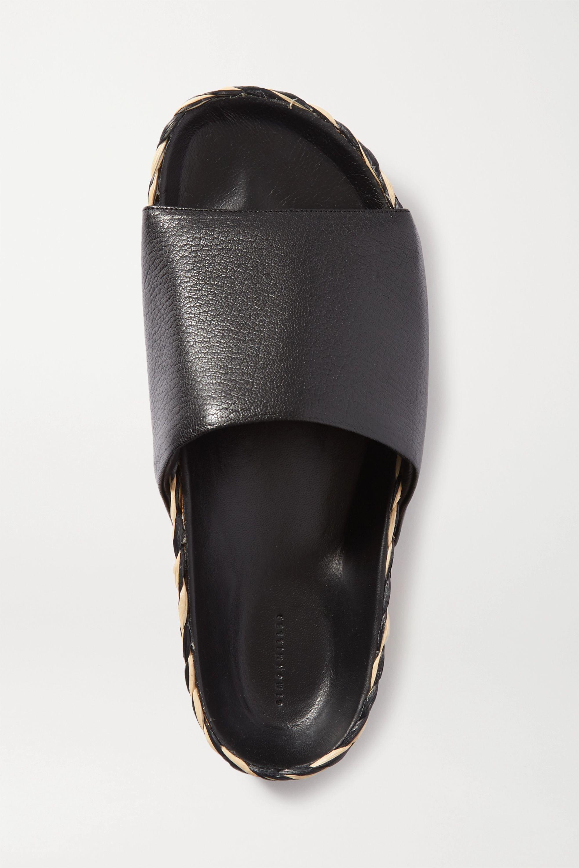 SIMON MILLER Mud leather espadrille platform sandals