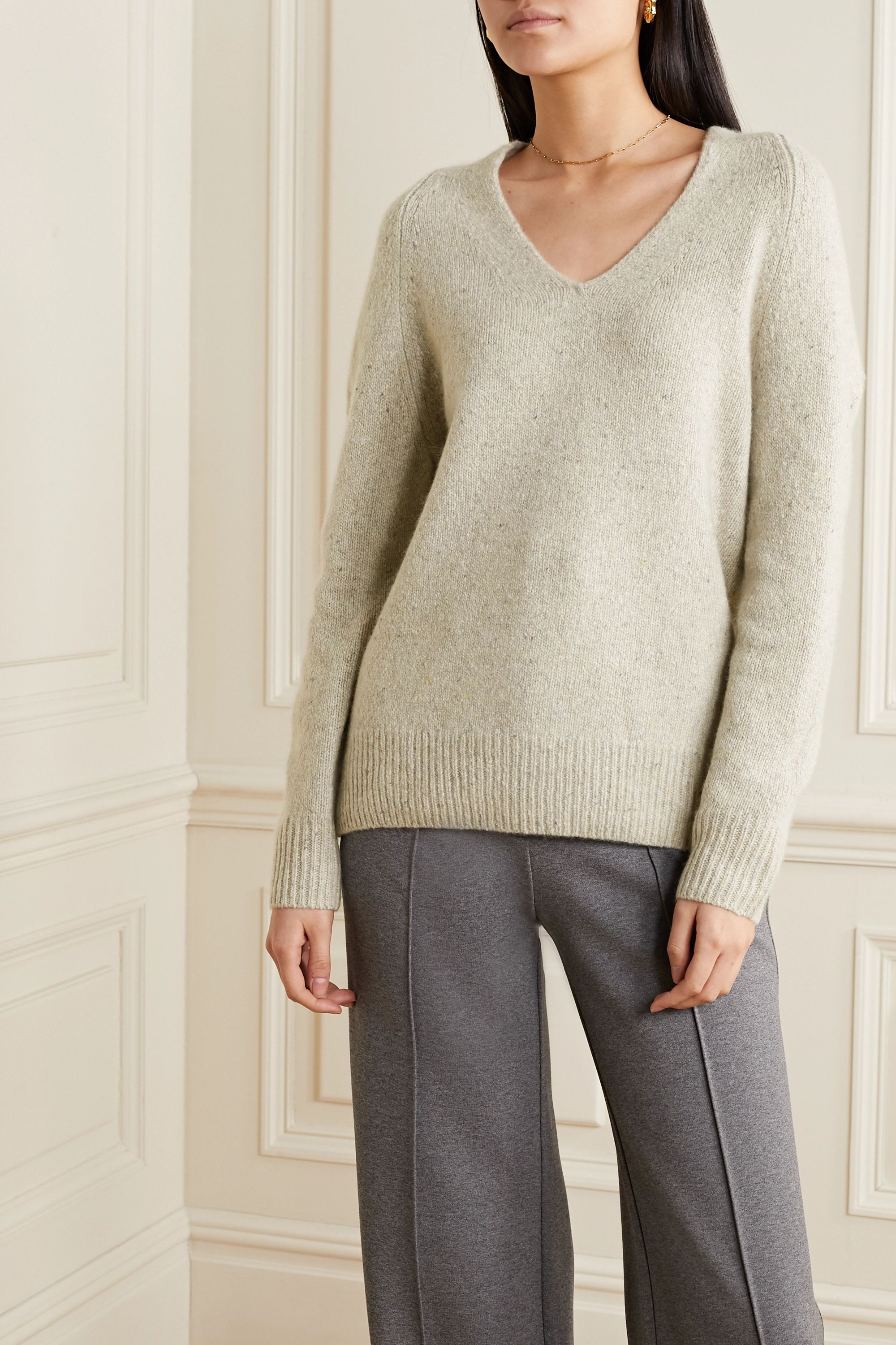 Vince Paneled cashmere sweater