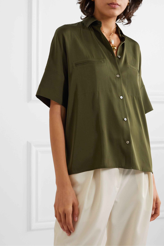 Vince Stretch-silk blouse