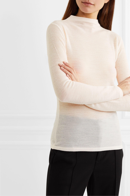 Vince Open-knit wool-blend top