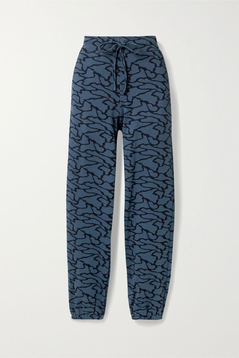 TWENTY Montréal Hyper Reality cotton-blend jacquard-knit track pants