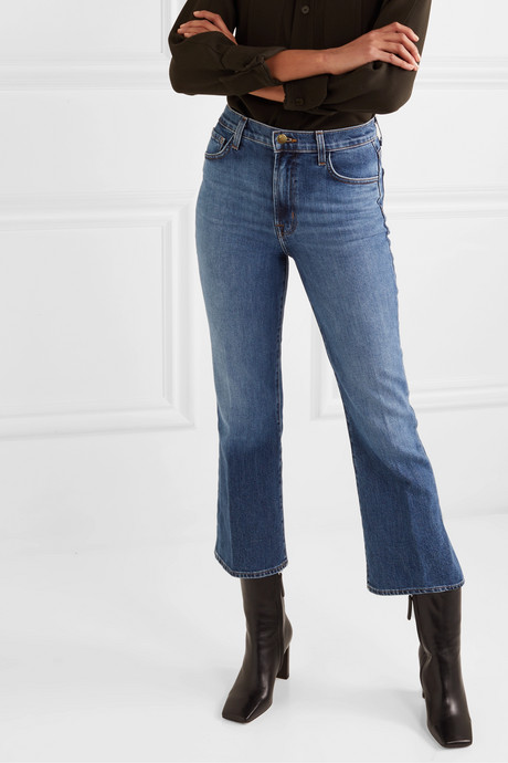 Julia cropped high-rise flared jeans