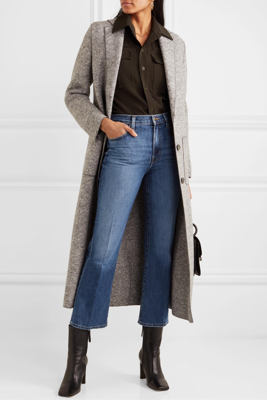 J Brand Julia cropped high-rise flared jeans
