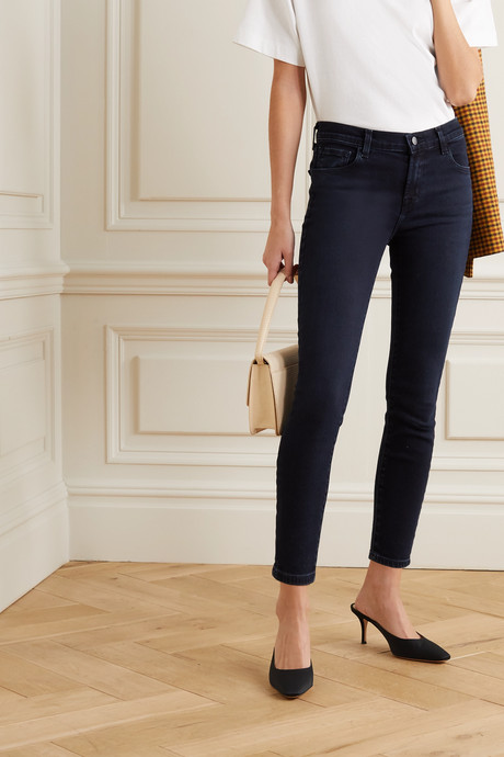 835 cropped high-rise skinny jeans