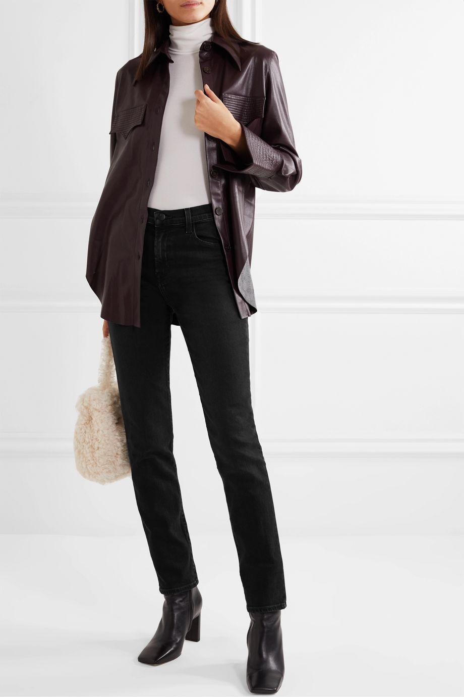 J Brand Ruby high-rise slim-leg jeans