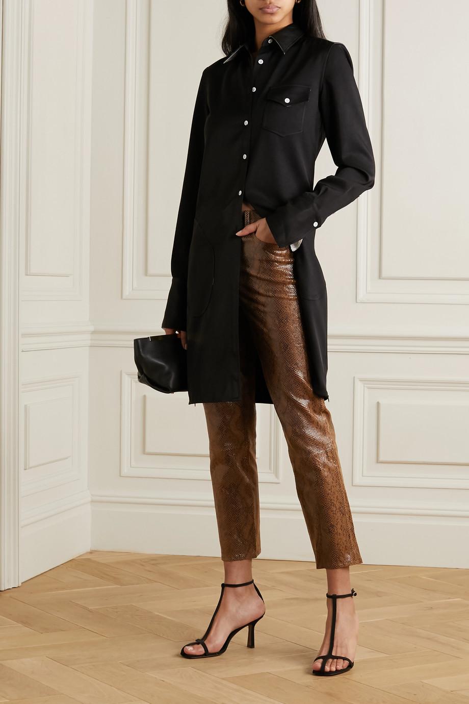 J Brand Ruby snake-effect leather skinny pants