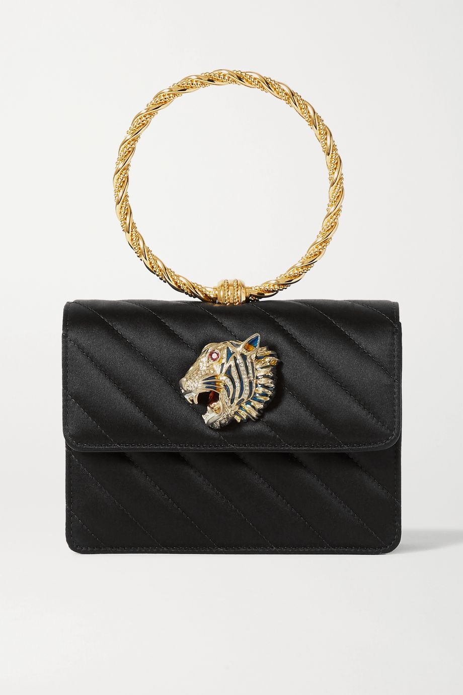 Gucci Broadway embellished quilted satin tote