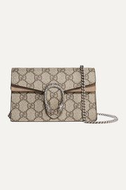 Gucci Dionysus super mini printed coated-canvas and suede shoulder bag