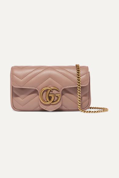 Gg Marmont Super Mini Schultertasche Aus Gestepptem Leder by Gucci
