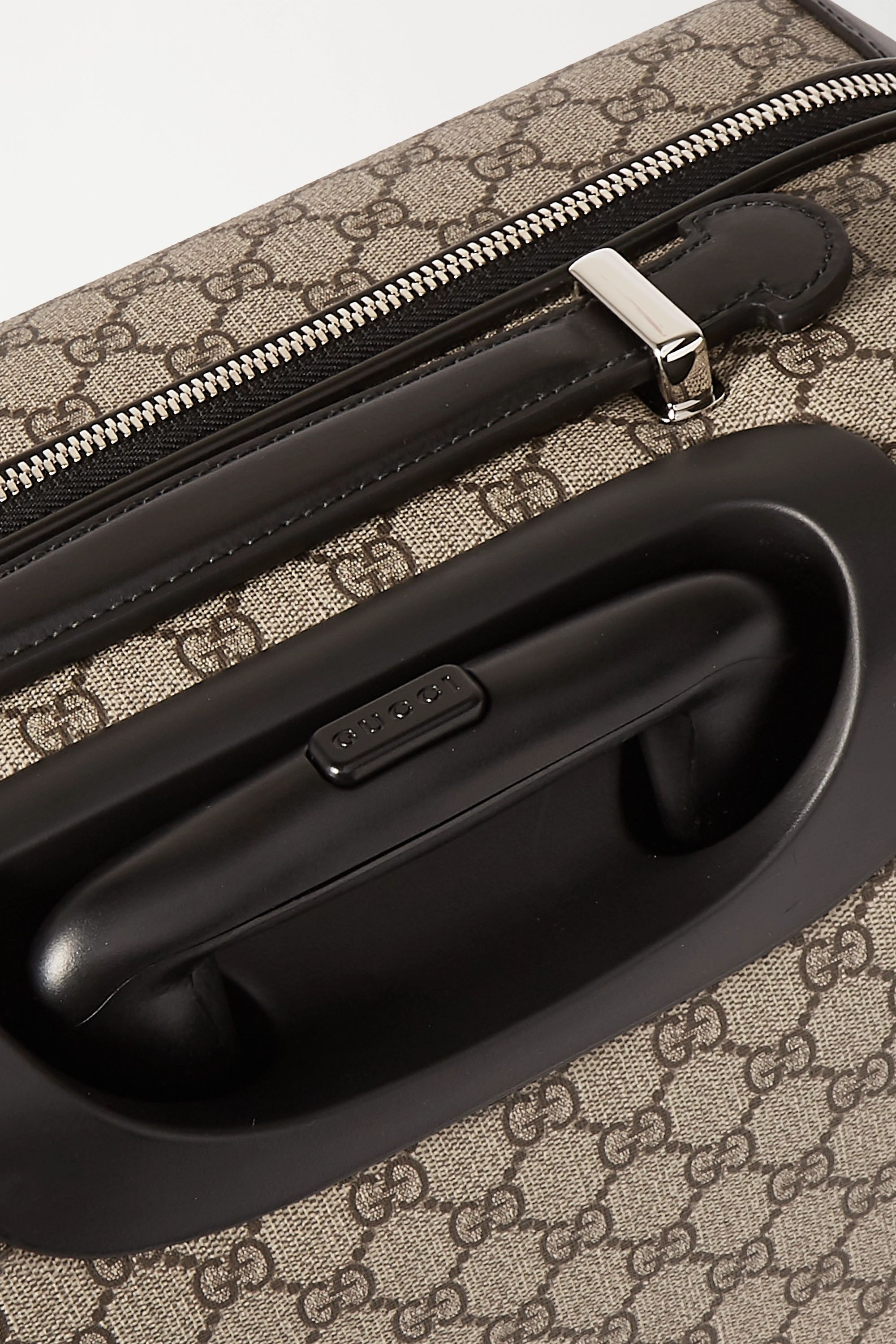 Gucci Grand Tourismo leather-trimmed printed coated-canvas suitcase