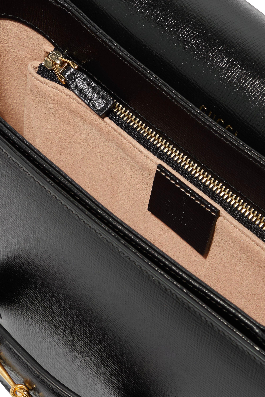 Gucci 1955 horsebit-detailed textured-leather shoulder bag