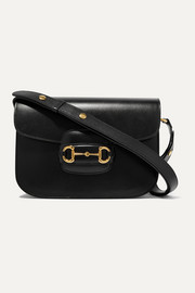 1955 horsebit-detailed textured-leather shoulder bag