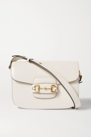 Gucci Morsetto medium textured-leather shoulder bag