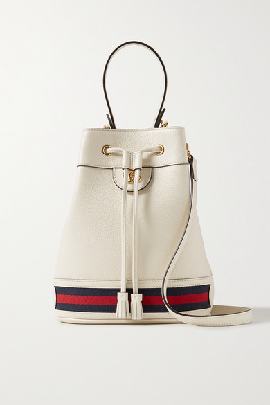 Ophidia Small Textured Leather Bucket Bag by Gucci