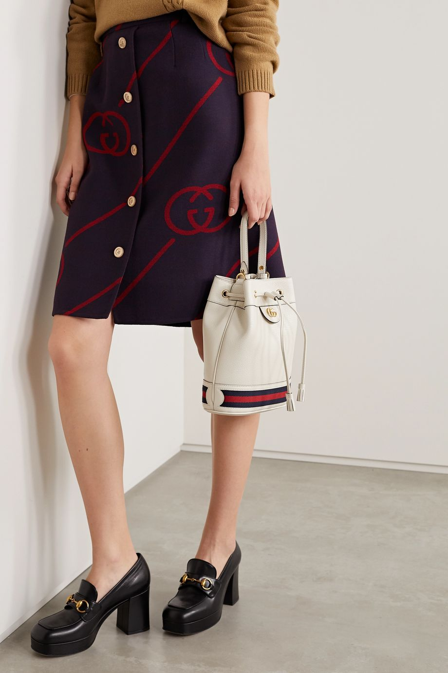 Gucci Ophidia small textured-leather bucket bag