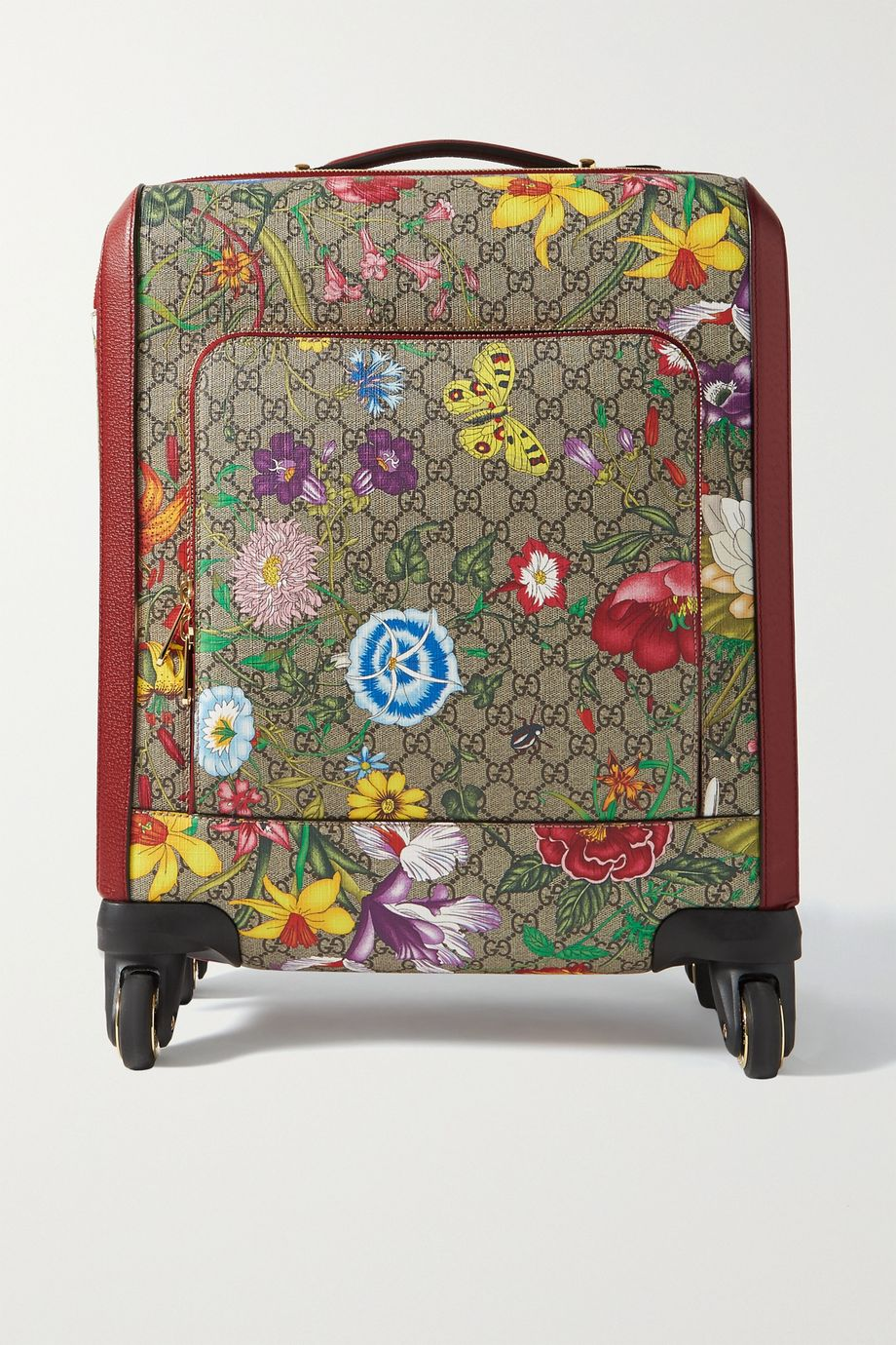 Gucci Ophidia textured leather-trimmed printed coated-canvas suitcase
