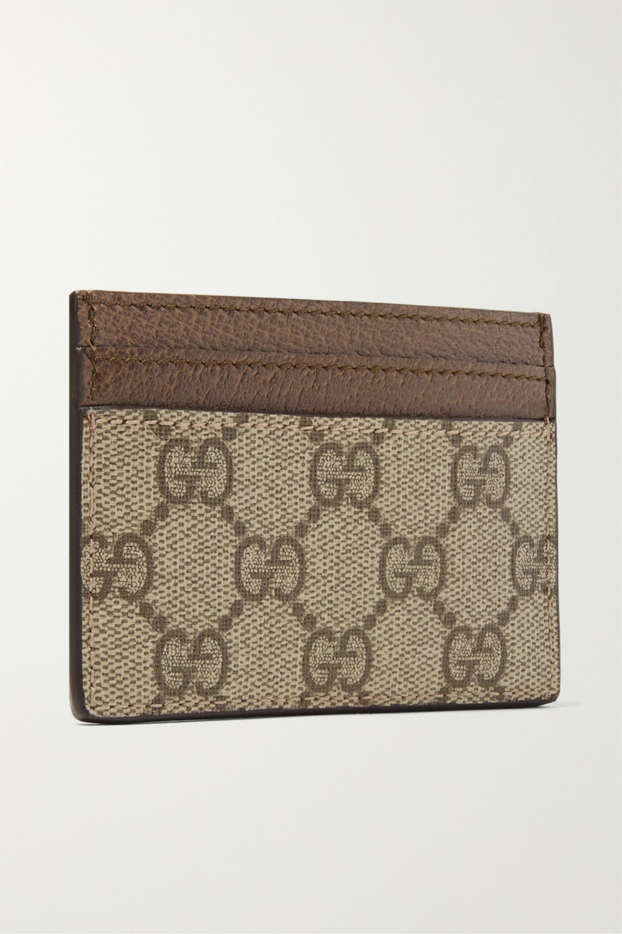 Gucci Ophidia textured leather-trimmed printed coated-canvas cardholder