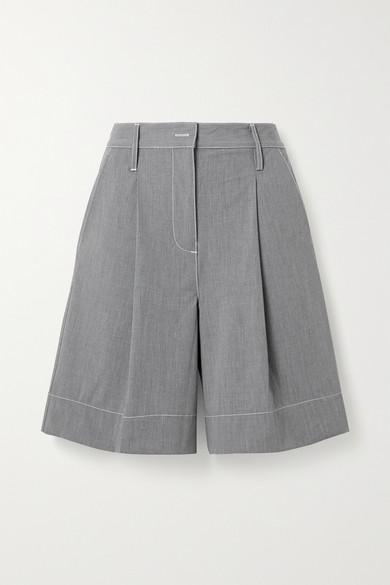 Grey Woven Shorts