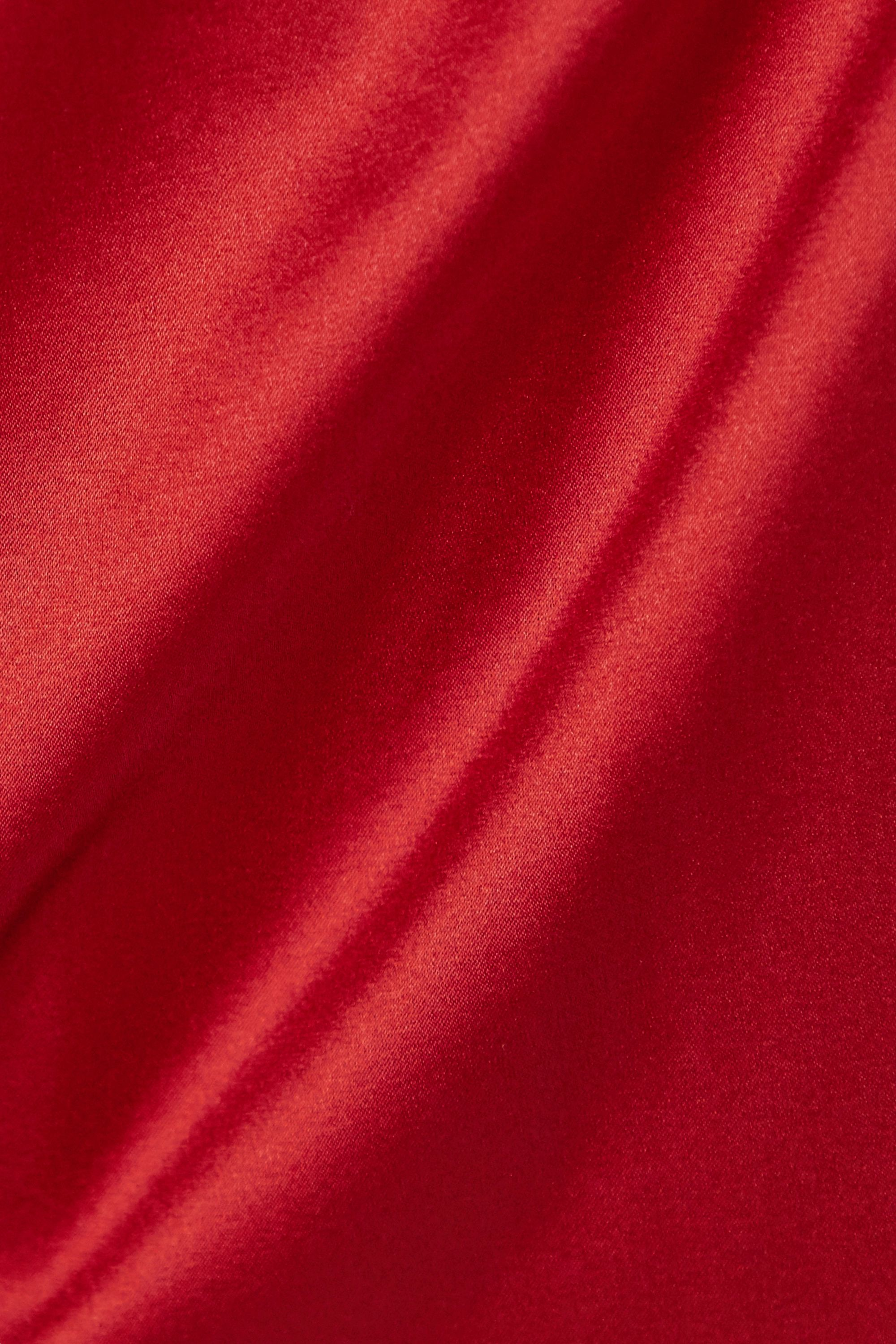 Fleur du Mal James lace-trimmed silk-blend satin camisole