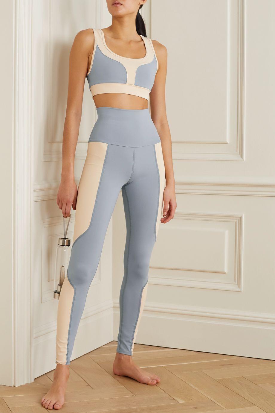 Live The Process Geometric two-tone stretch-Supplex leggings