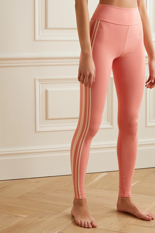 Live The Process Zen grosgrain-trimmed stretch-Supplex leggings
