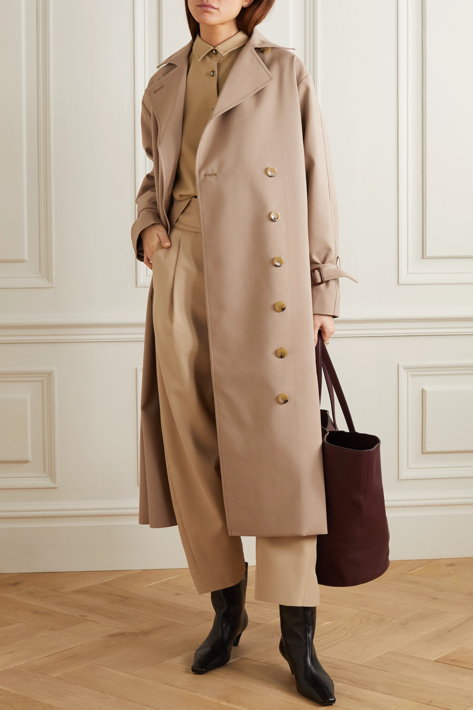Totême Pisa double-breasted cotton-blend trench coat