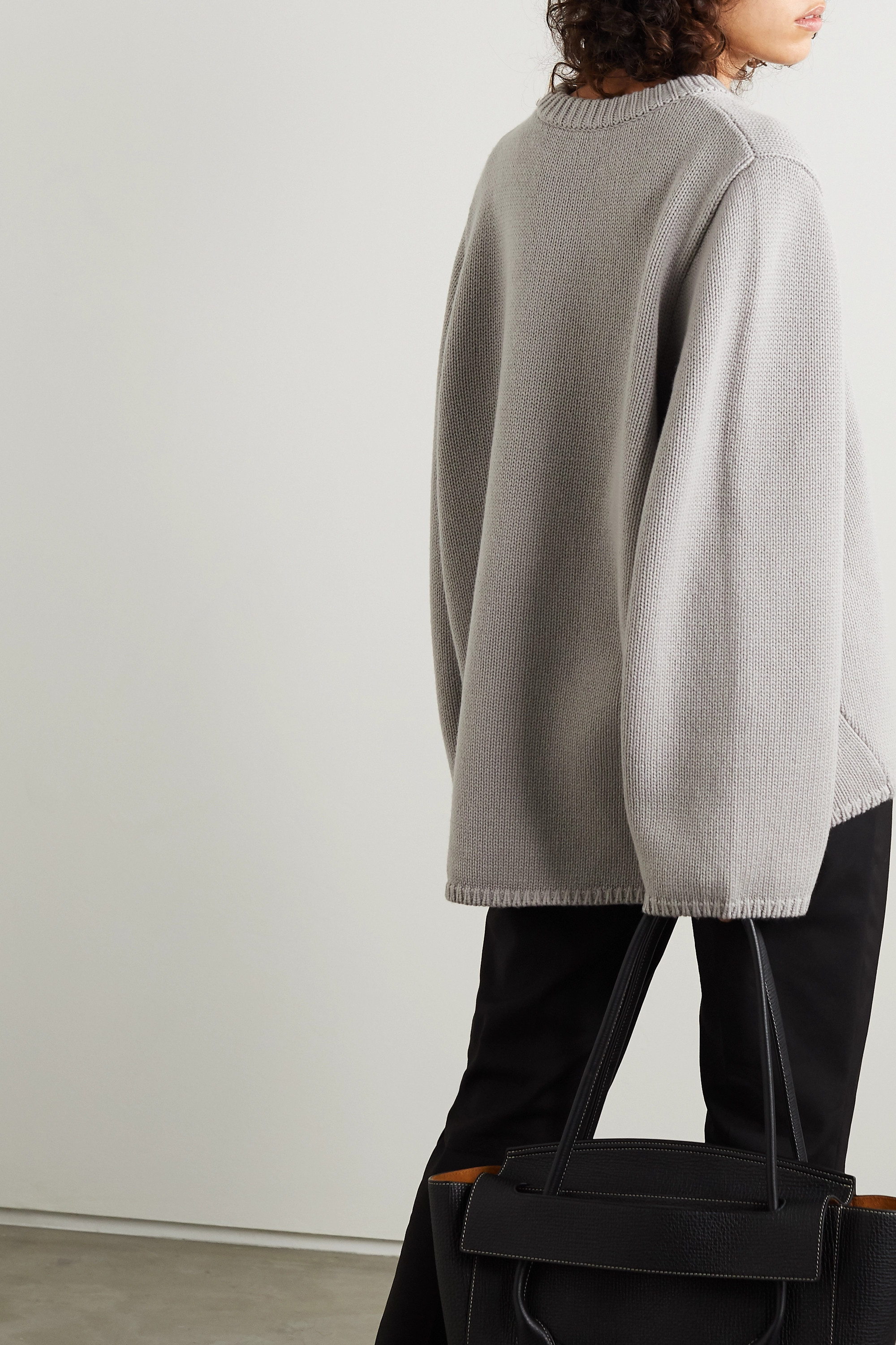 Totême Marans oversized merino wool and cashmere-blend sweater