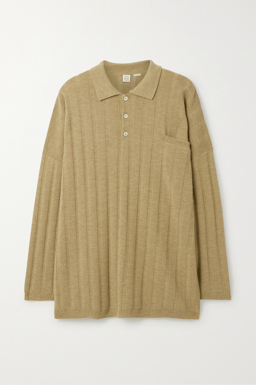 Totême Bonifacio oversized ribbed merino wool sweater