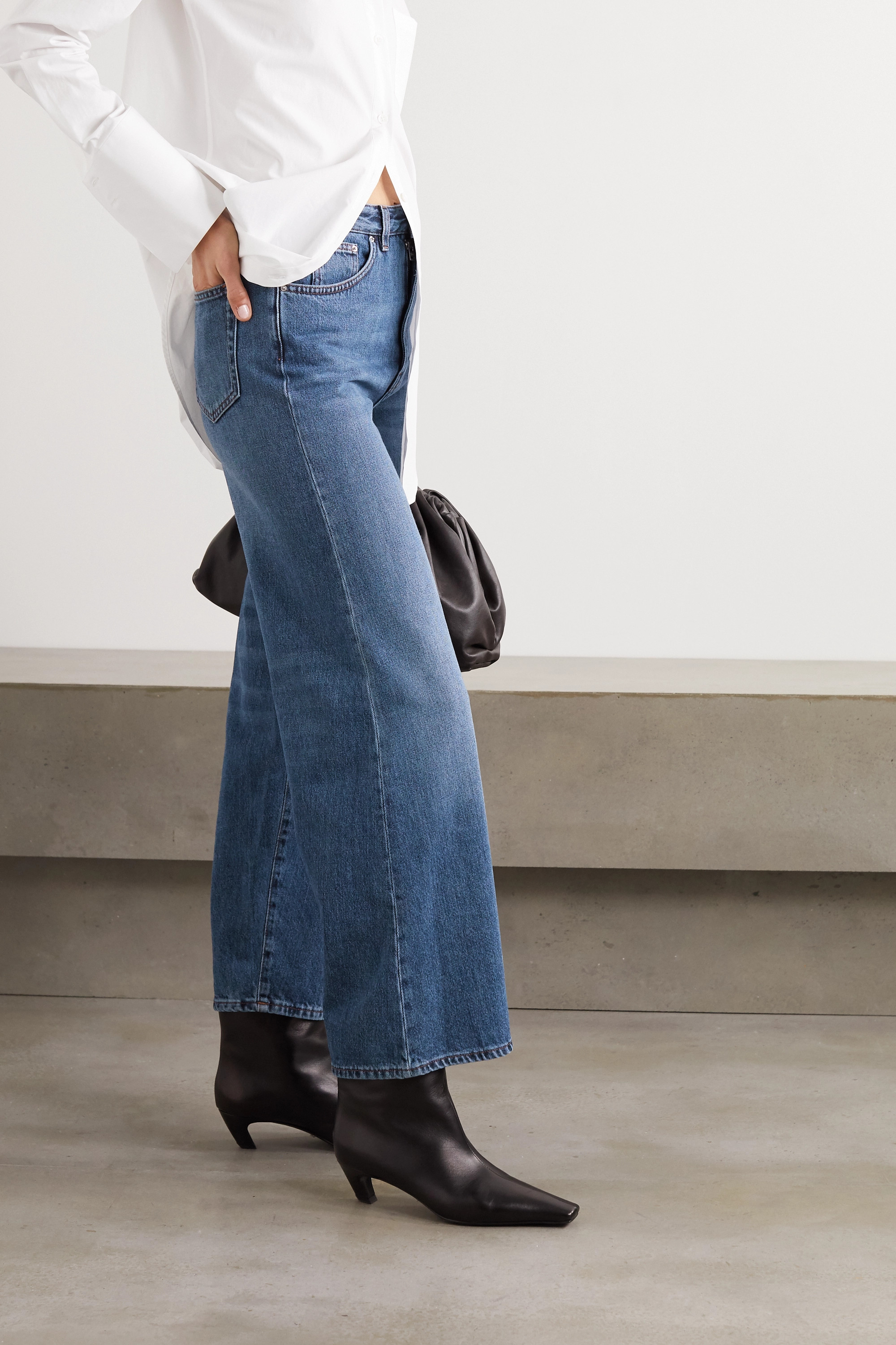 Totême Flair high-rise wide-leg jeans