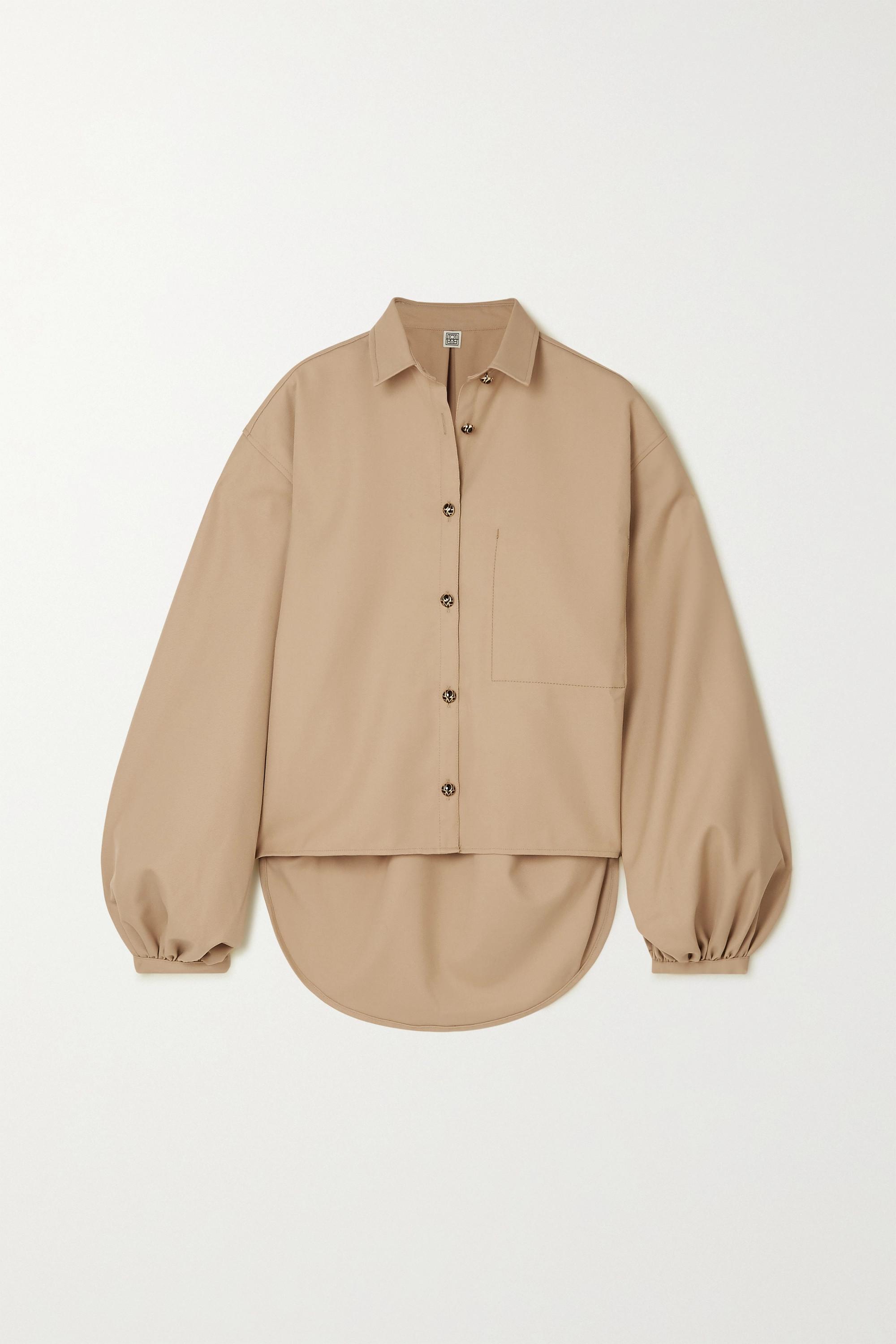 Totême Novale Oversized-Hemd aus Grain de Poudre