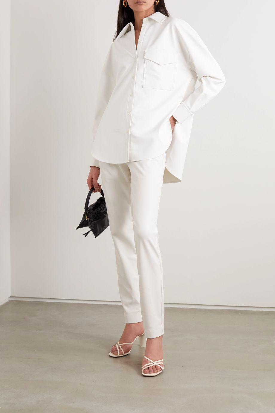 Tibi Faux leather tapered pants
