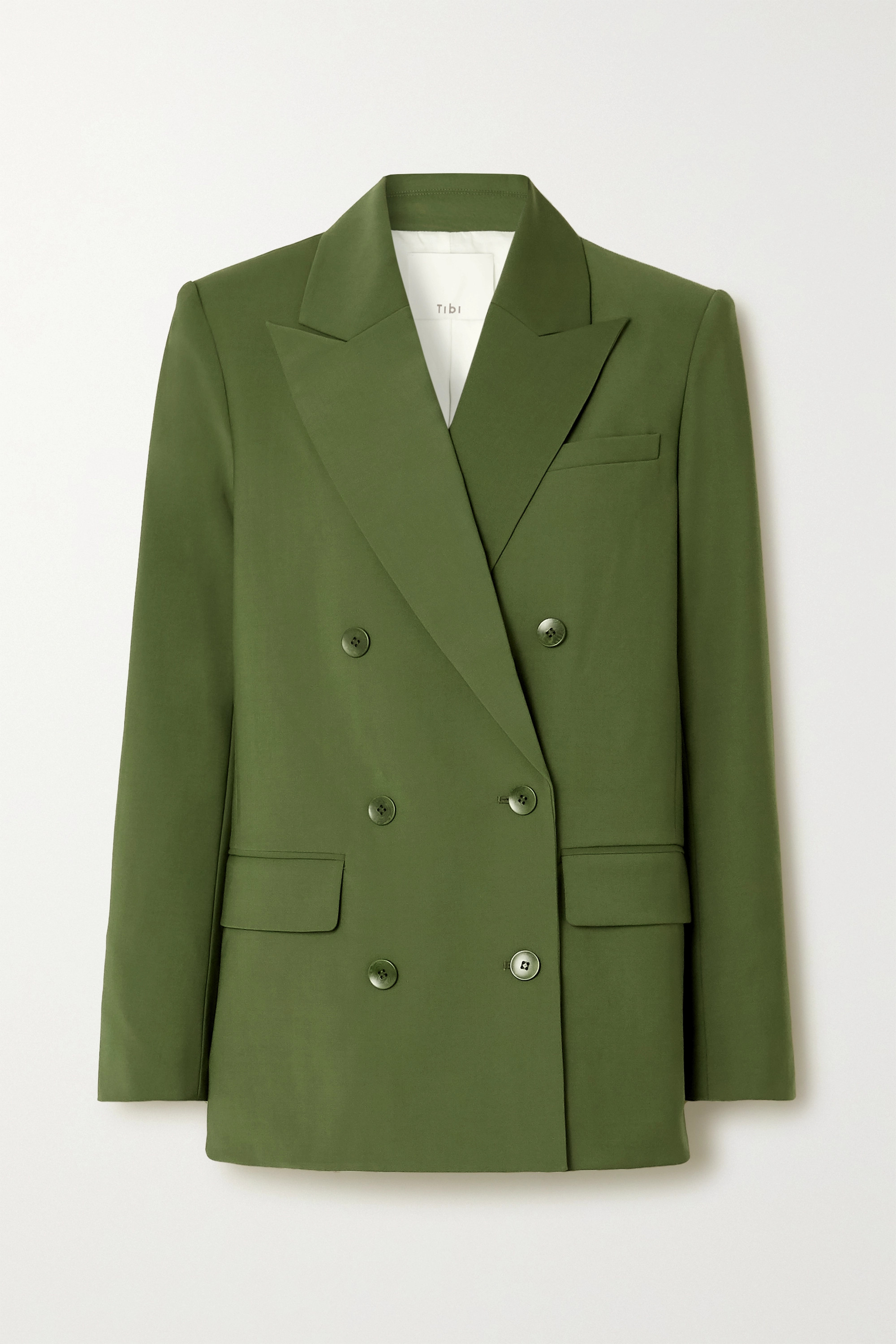 Double-breasted woven blazer