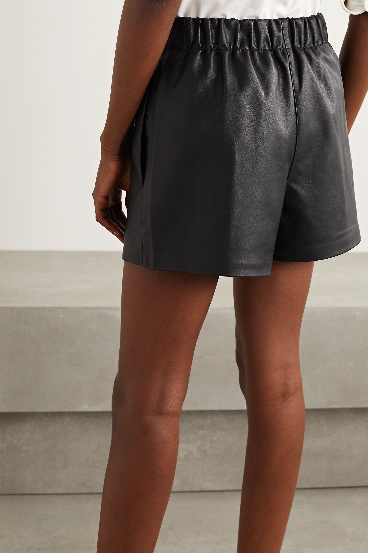 Tibi Faux leather shorts