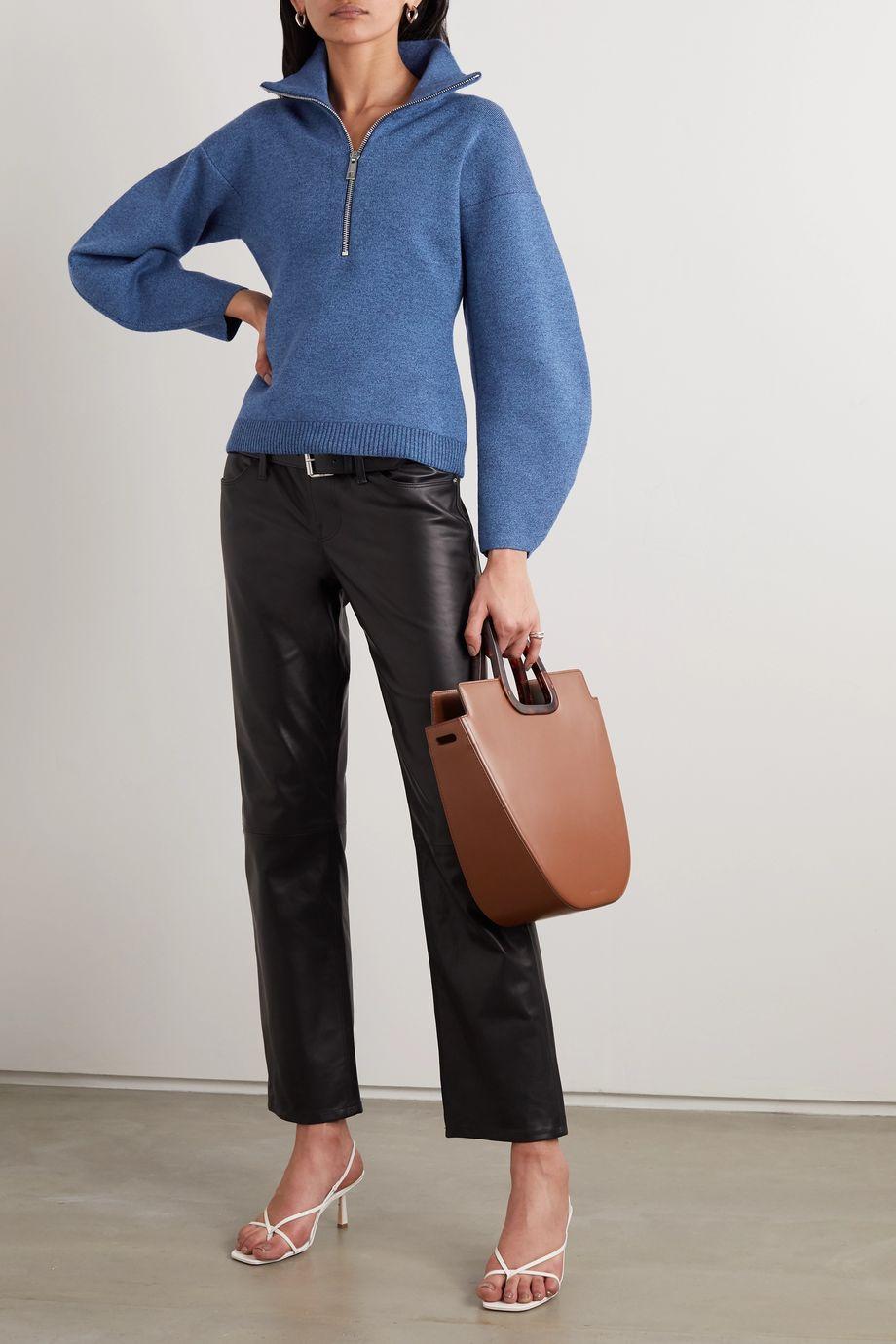 Tibi Mélange merino wool-blend sweater