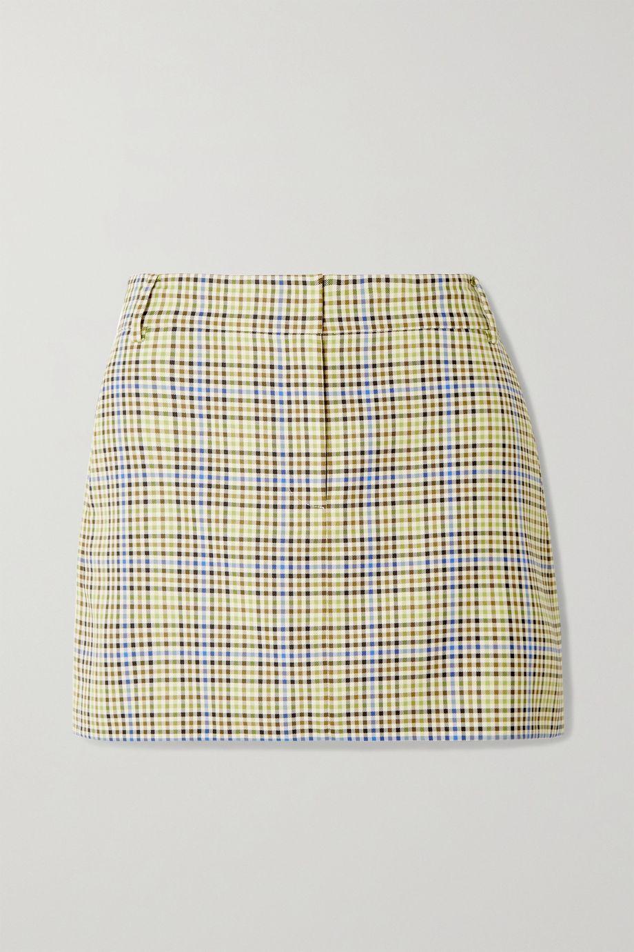 Tibi Checked woven mini skirt