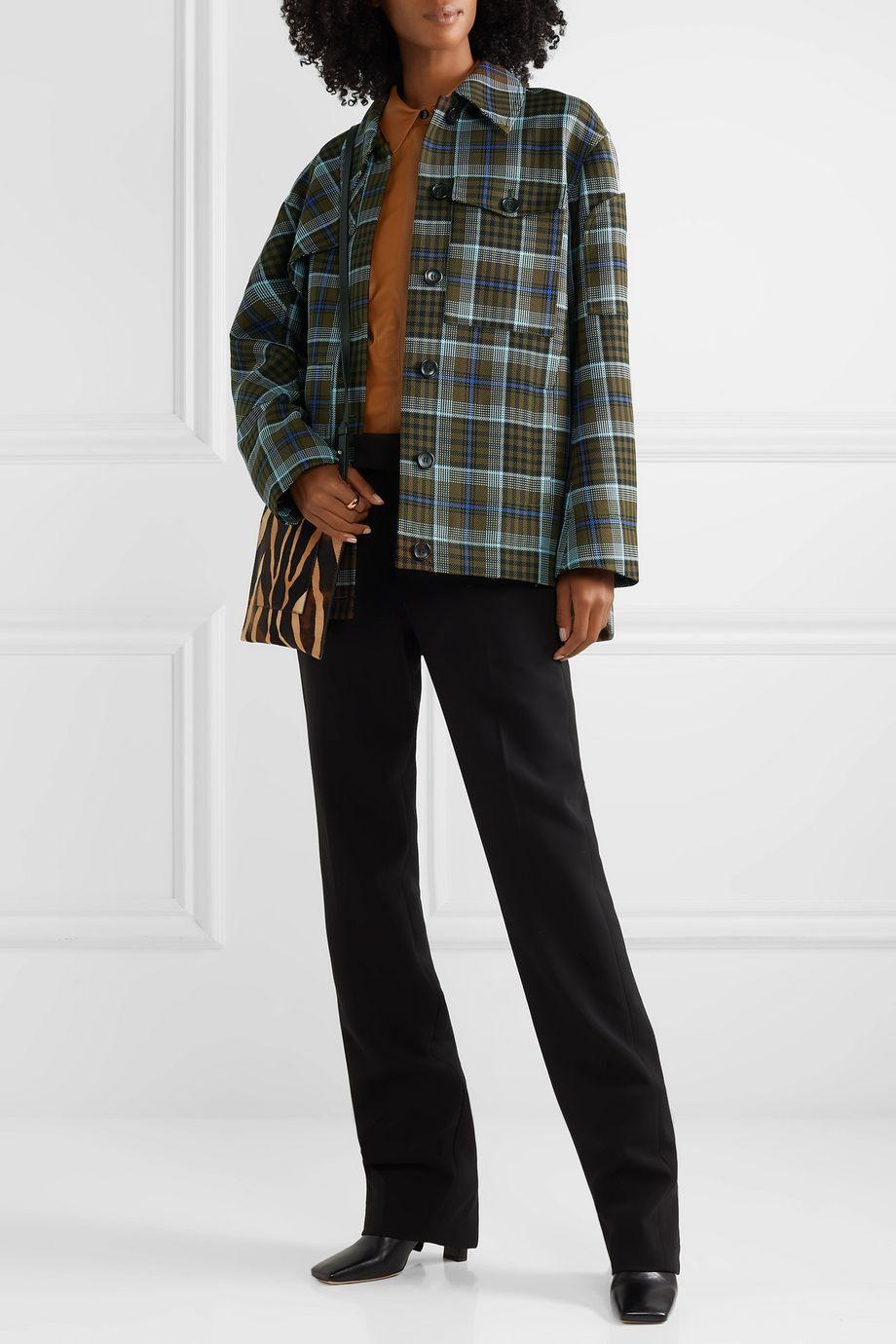 Tibi Spencer checked woven jacket