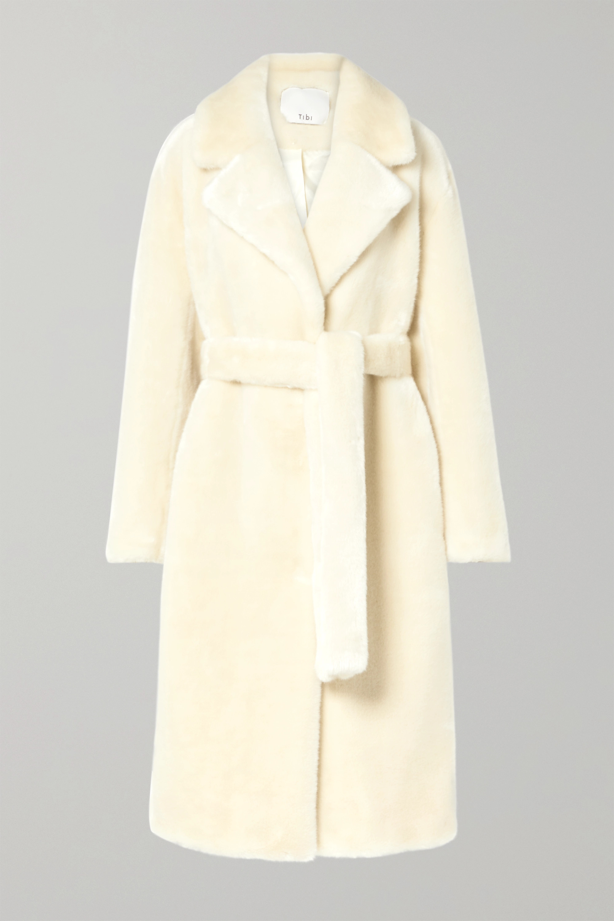 Tibi faux fur belted coat | Browns
