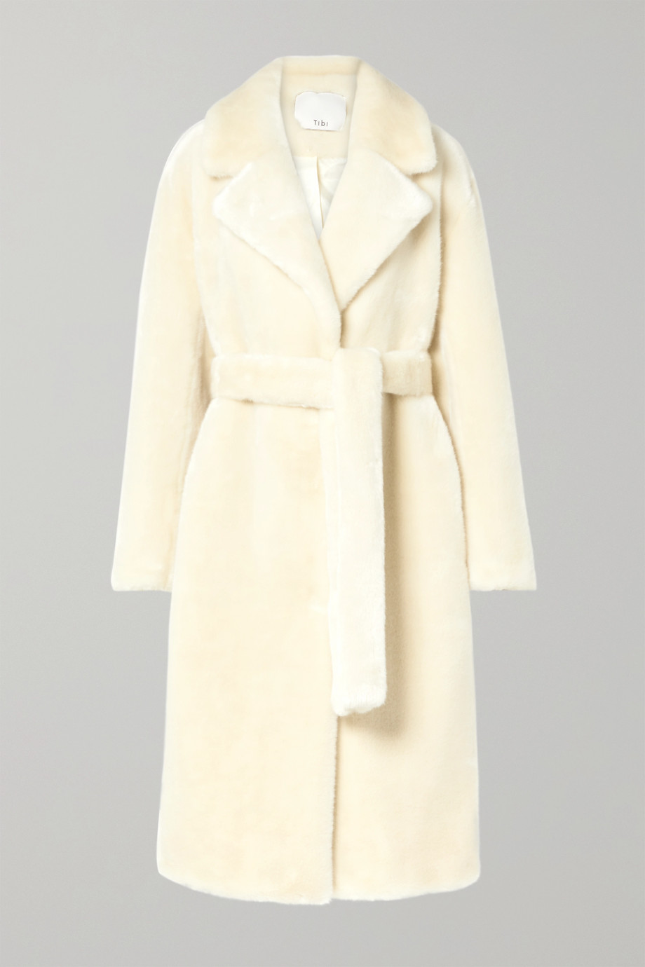 Tibi Oversized belted faux fur coat