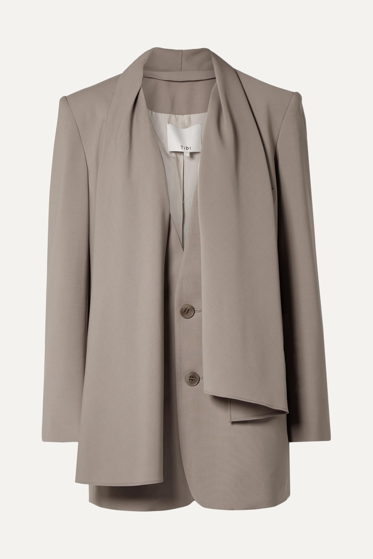 Convertible woven blazer