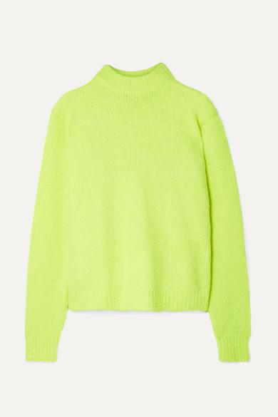 Tibi Knits Cozette neon alpaca-blend sweater