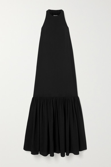 Tibi Dresses Tiered silk crepe de chine maxi dress