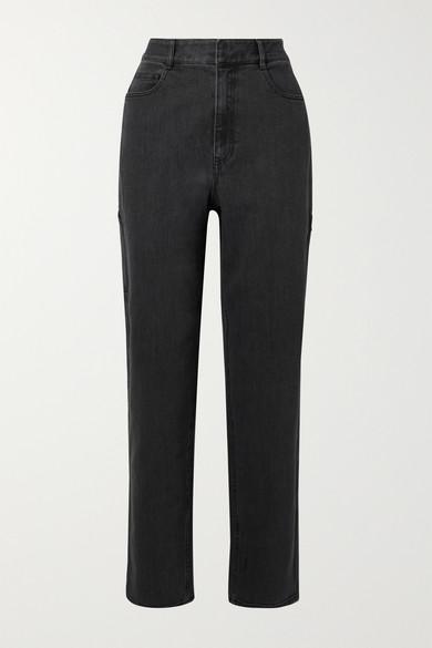 Tibi Carpenter High-rise Jeans In Charcoal