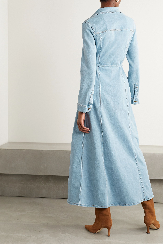 Nanushka Jiaye belted denim maxi dress
