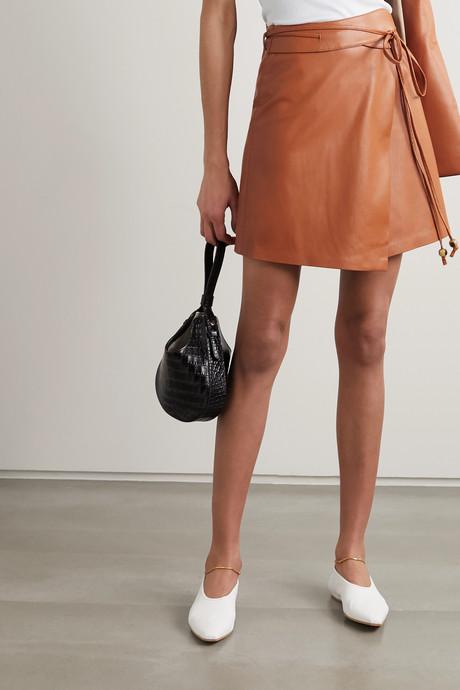 Sekoya vegan leather wrap mini skirt