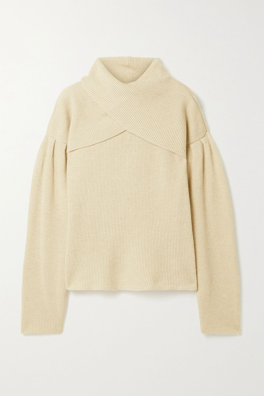 Nanushka Korina layered ribbed-knit sweater