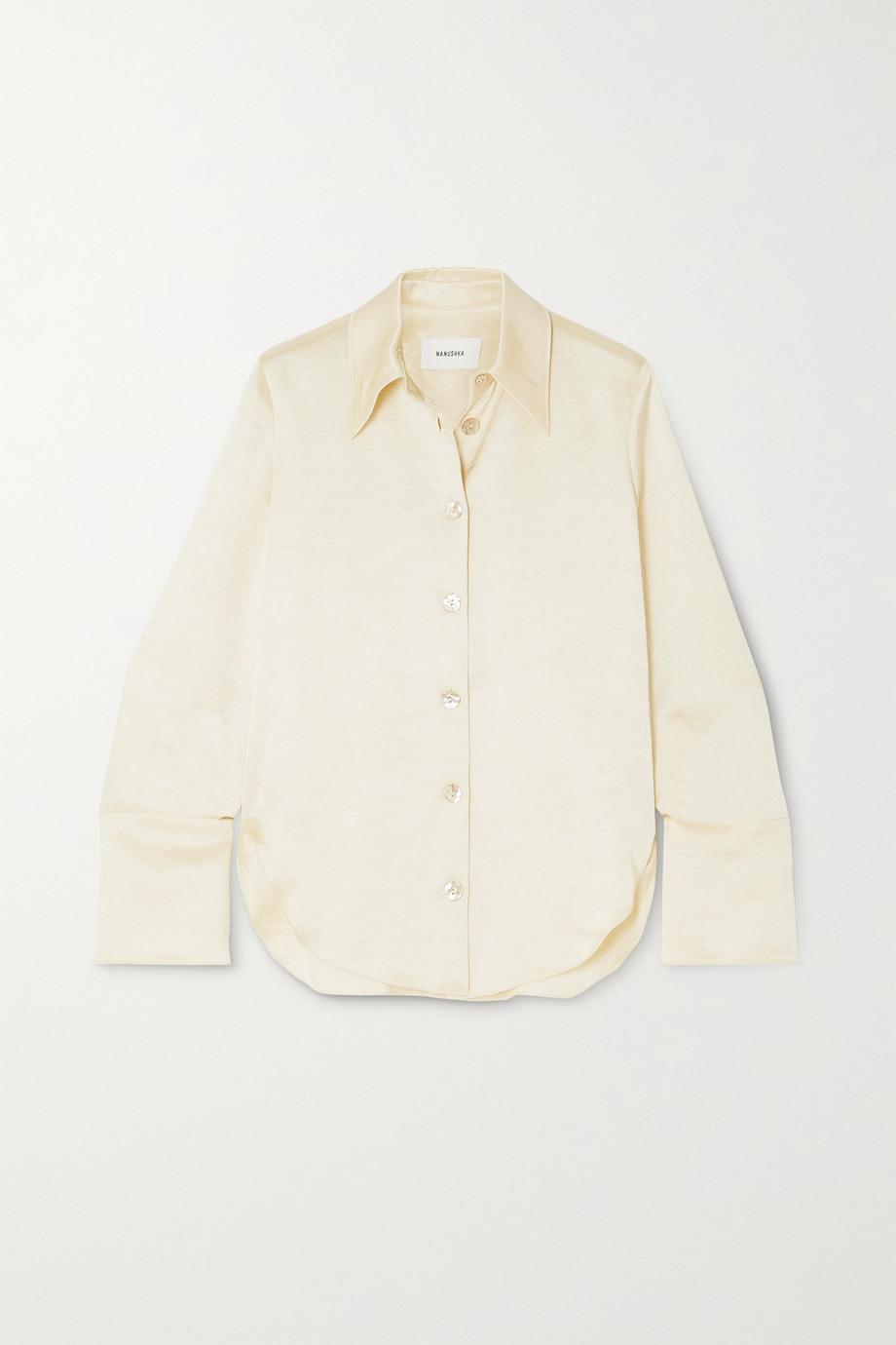 Nanushka Mandine 水洗缎布衬衫