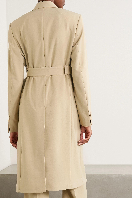 Nanushka Greta belted double-breasted woven coat