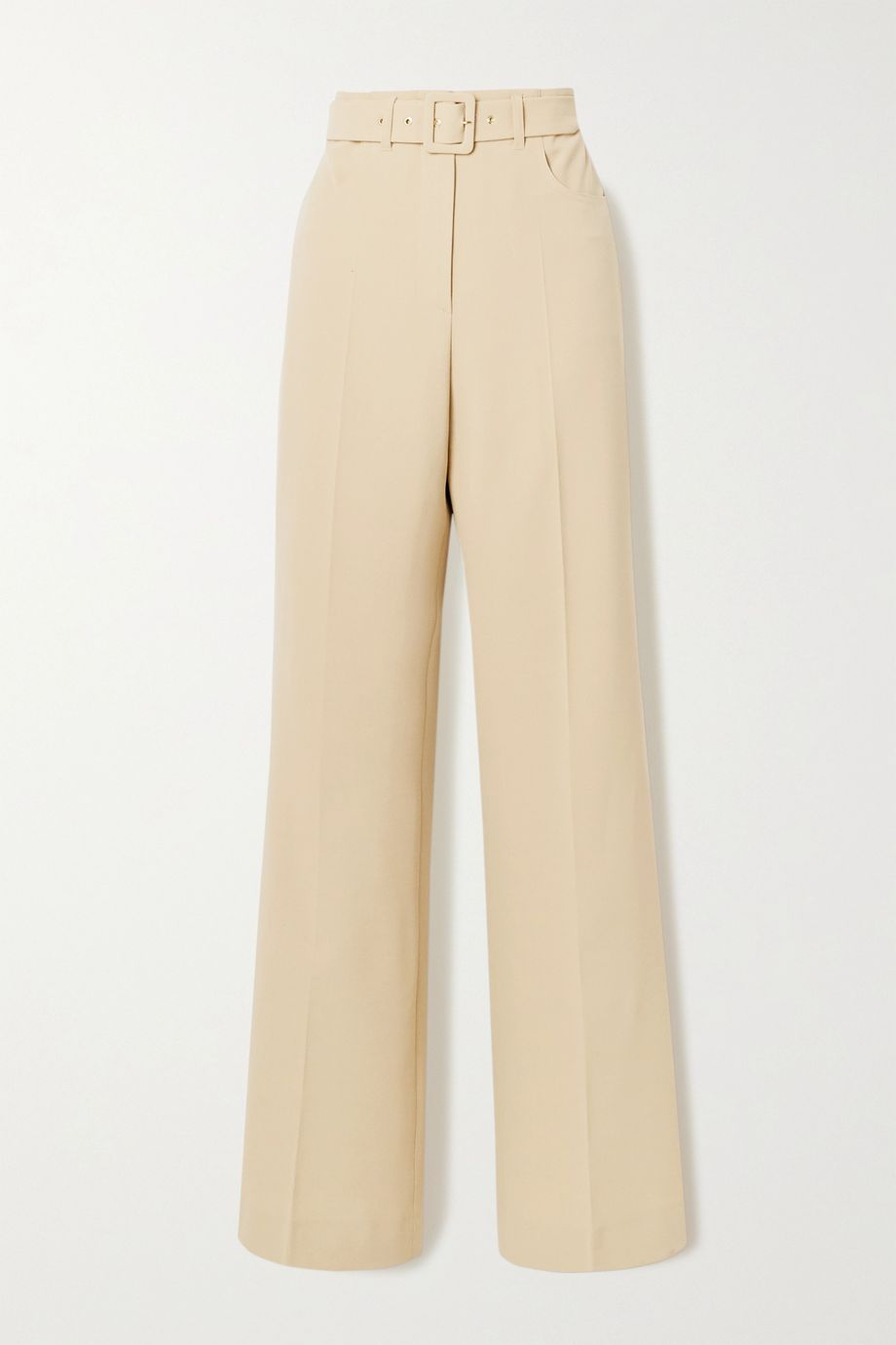 Nanushka Clara belted woven wide-leg pants