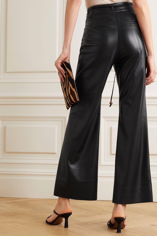 Nanushka Chimo cropped vegan leather wide-leg pants