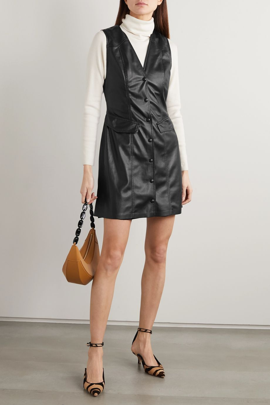 Nanushka Menphi vegan leather mini dress